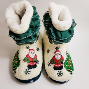 Christmas Slippers High Top w/ Jingle Bells NWT